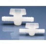 Кран 2-ходовой для шлангов с внутр. диам. 1/2 / 12 мм, пластиковый PE (75093) (Vitlab)